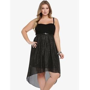 Torrid sparkly high low sweetheart dress